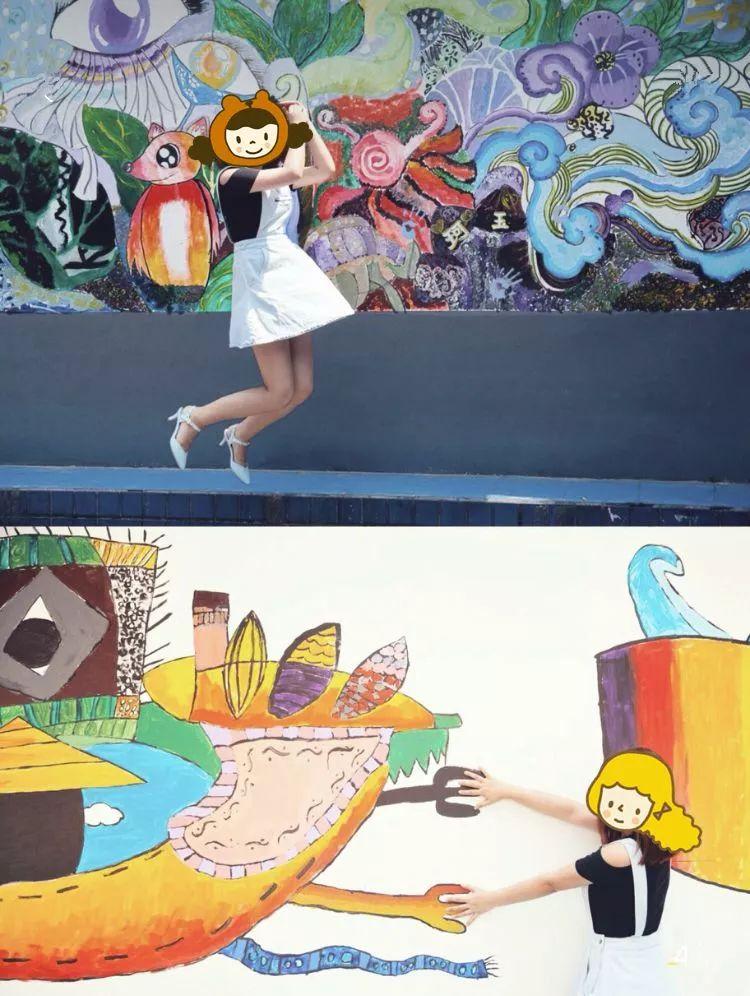 奎星楼的网红墙   - 吃货们打开不一样的奎星楼,超酷的涂鸦墙 -   泡桐树涂鸦墙   - 小朋友的绘画极具成都特色 -   泡桐树街有一地方,全是涂鸦可以说很代表成都了,这条涂鸦街让成都这座城市更加的年轻化.图片