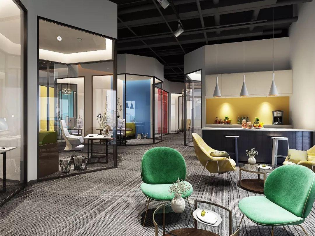 风格的网红直播it办公室,尚泰装饰的设计定位即是简洁时尚与科技感,通