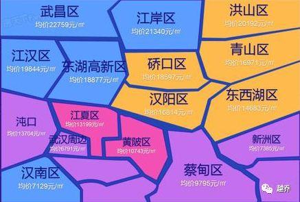 11月武汉房价地图出炉,挂牌价较上月跌0.17%