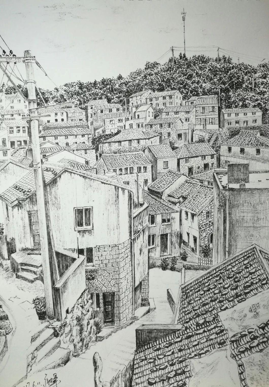 用钢笔刻画温州的独属风情   美的风景是看不腻的   一组钢笔画