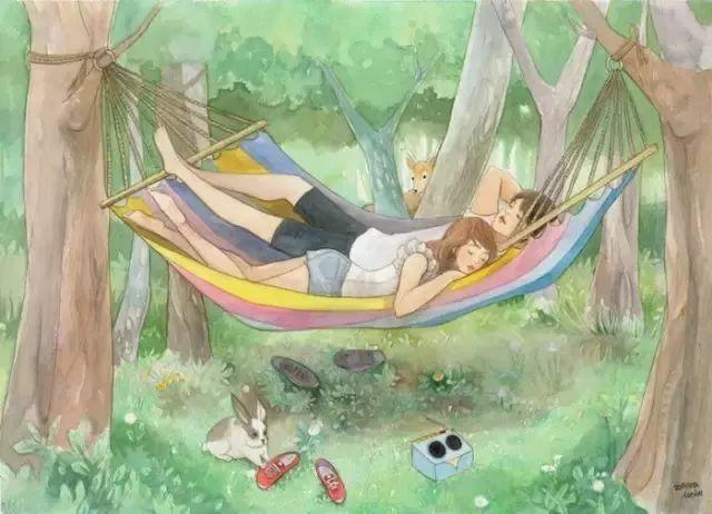 朋友圈暖心插画:2018年,这就是我想要的爱情 - 后花园网文 - 精美网文