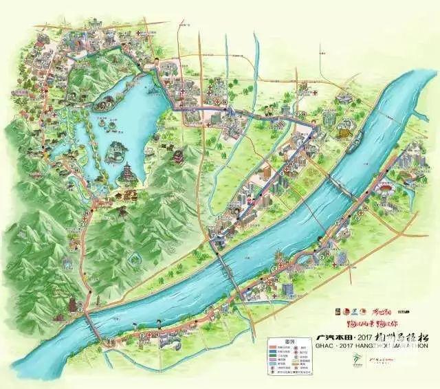 (官方特制的手绘地图)