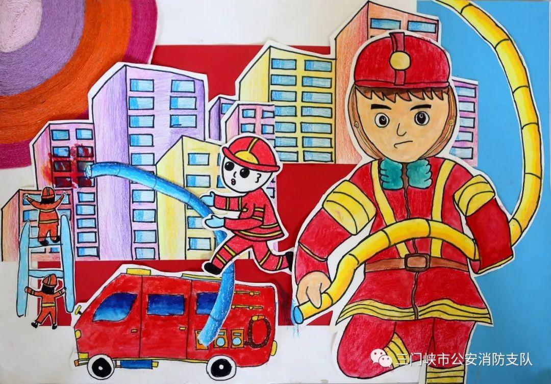 童趣| 为这些儿童消防绘画作品点赞!图片