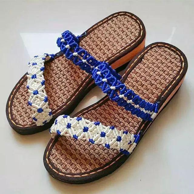零基础编织凉鞋,穿上自己做的凉鞋,才叫过夏天呢!