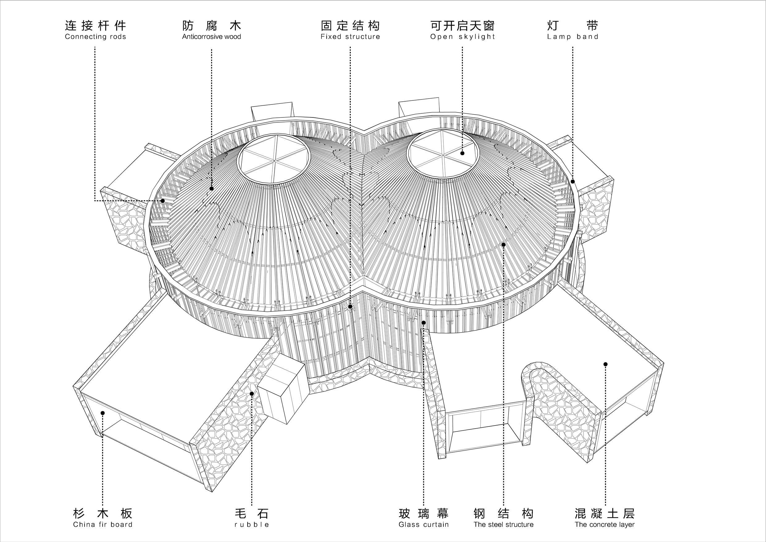 未来的建筑简笔画