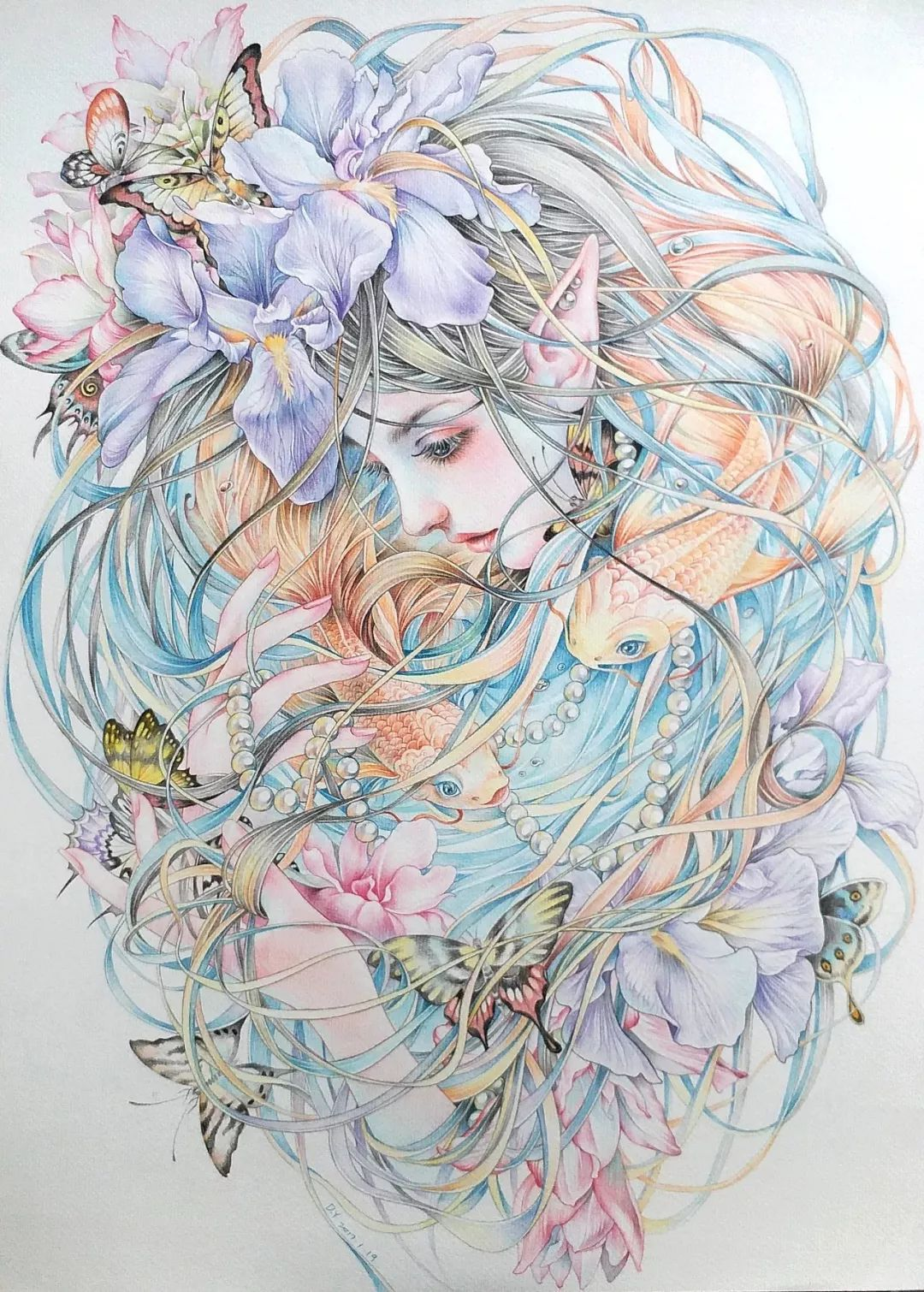 这些带着仙气的彩铅插画,每一幅都这么迷人,保证你看了一定喜欢!