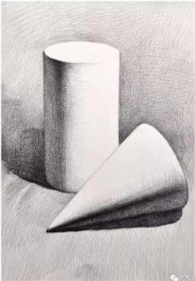 素描|几何体组合