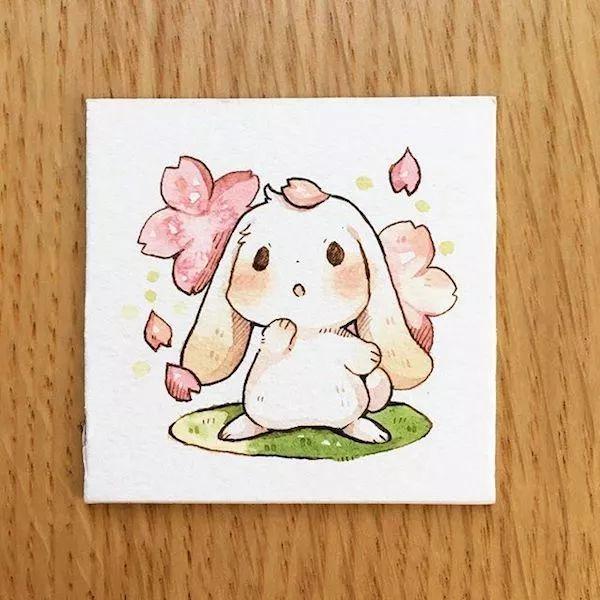 他笔下的萌宠   这是我见过最萌的小兔子了   怎么能这么可爱呢