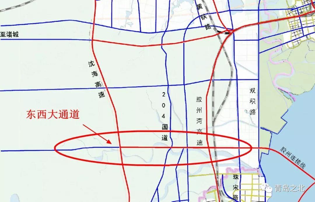 胶州时速大通道途经走向,确定19个村,v时速东西软件设计图用哪个平面图片