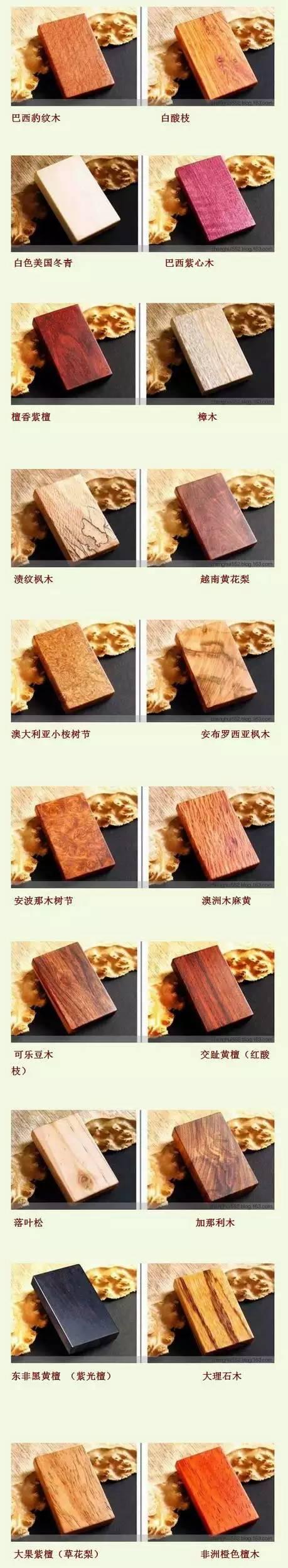认不清是什么木头?60种木材图集让你秒懂! - 后花园网文 - 大杂烩