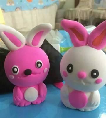 儿童彩泥手工制作,教你快速做可爱小兔子