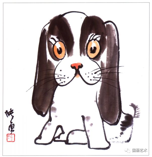儿童国画入门,可爱的动物一学就会画!