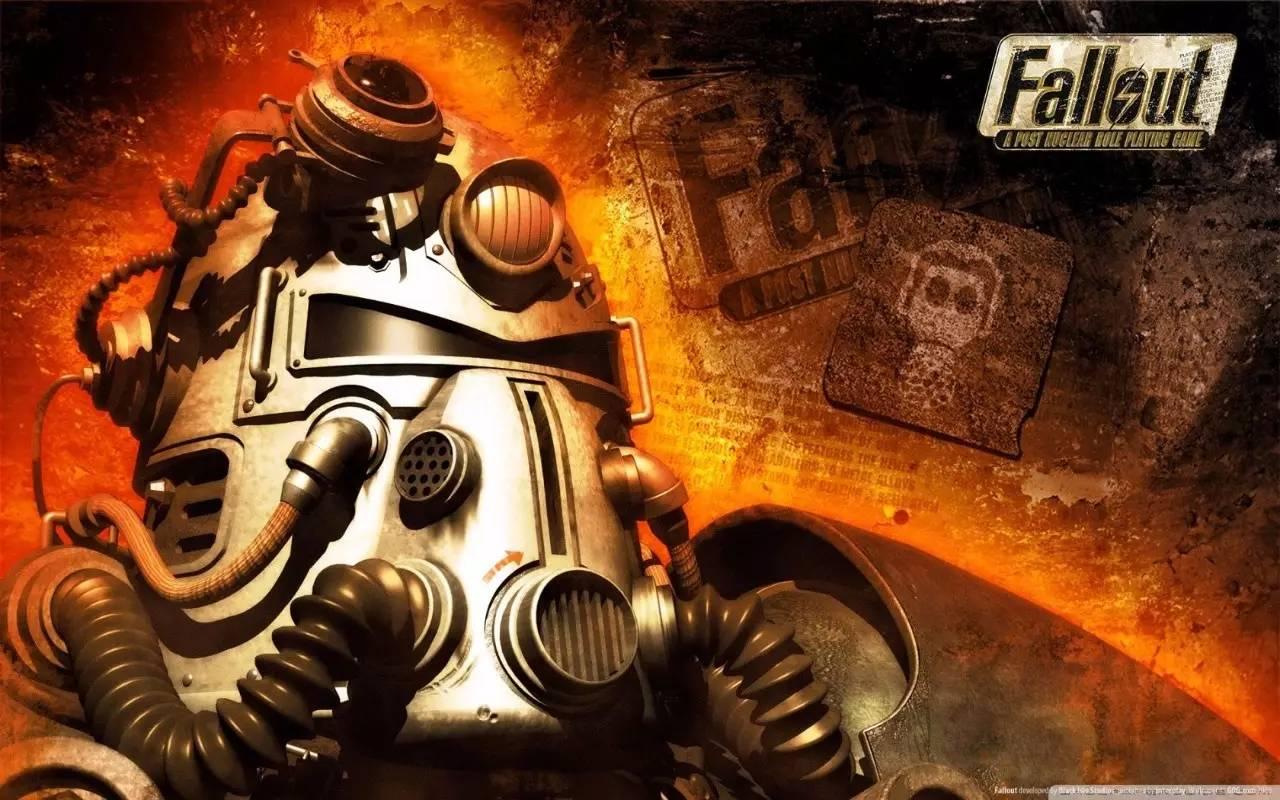 """《辐射》在发售之处的宣传海报中,印着一行字:""""挺进废土!"""