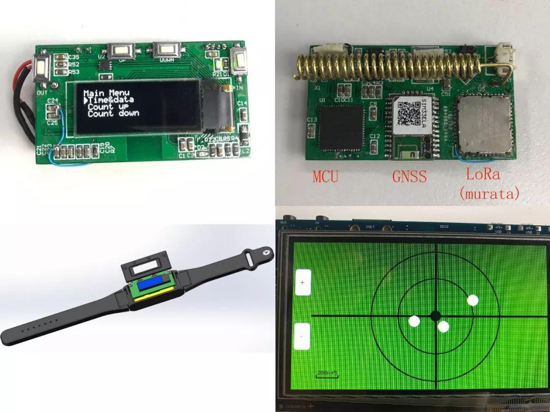 作品实物   ▌ 手表外形   如图包括1表壳,2表带,3电池,4电路板和