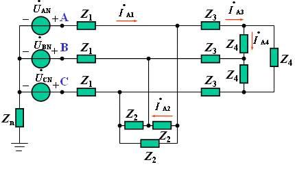 以三相发电机作为电源,称为三相电源;   以三相电源供电的电路,称