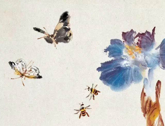 写意蜜蜂的步骤图