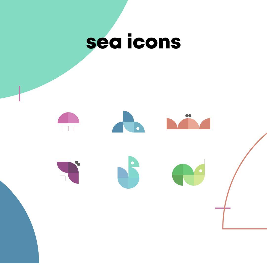 图标|四种元素 六种动物