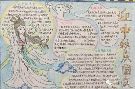 10 种超美中秋节灯笼,还有国庆中秋手抄报创意tips图片