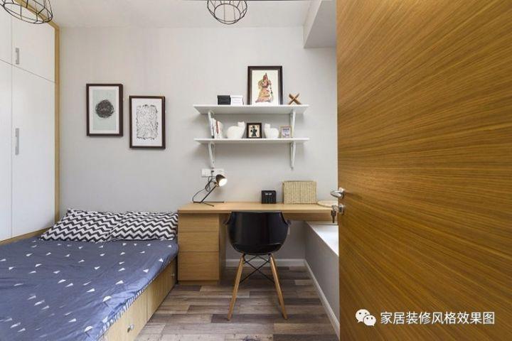 5万搞定80平北欧风格二居室 原木背景墙原木收纳柜温馨又实用