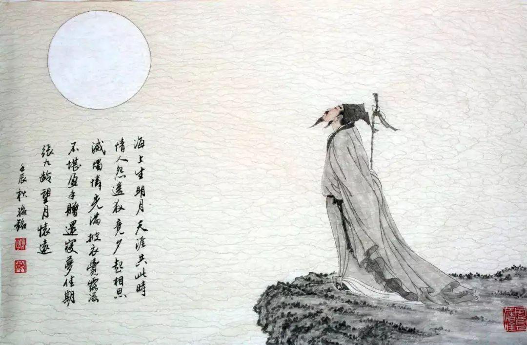 中秋国画_中秋赏月指南 ——十首唯美中秋古诗词带您一起赏月