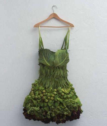 物画结合创意作品   一点花,蔬菜和
