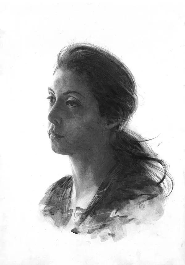 素描肖像结构图