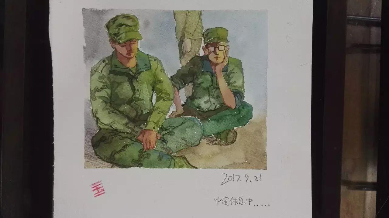 美院手绘军训日记来啦!萌新们笔下的军训如此有趣!