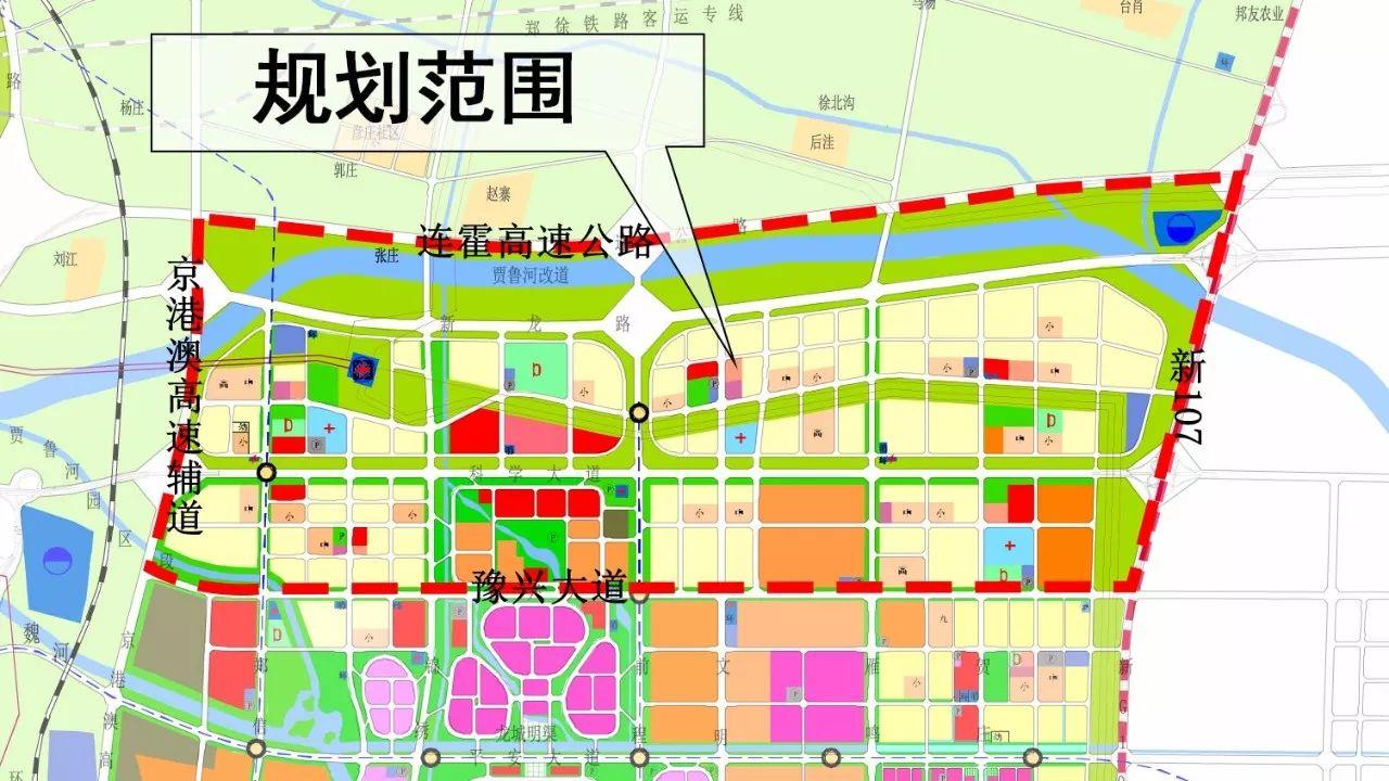 郑东新区白沙规划图图片