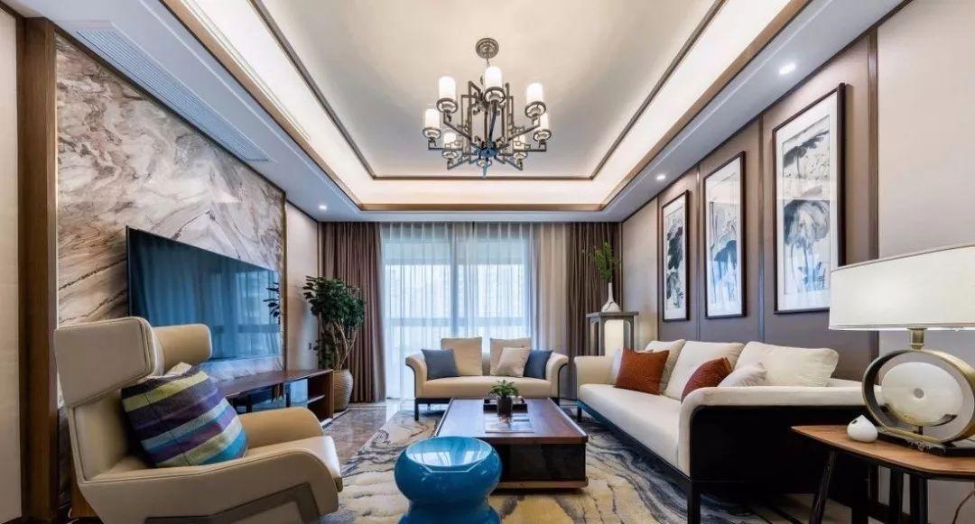 2018年最流行的新中式客厅,看多久都不觉得腻!