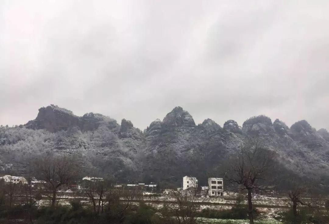 新昌乡村   皑皑白雪落在新昌村庄,倒是和当地温润的田园风景