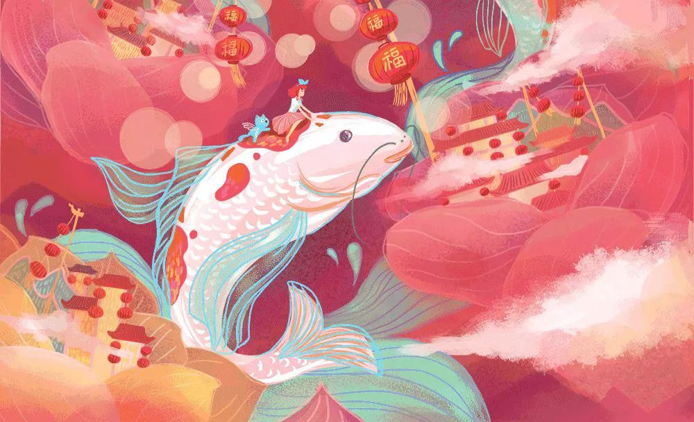 锦鲤创意儿童画