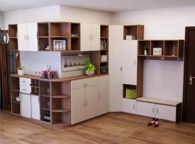 酒柜的设计   满足门厅多功能的生活需求                鞋柜 拐角柜图片