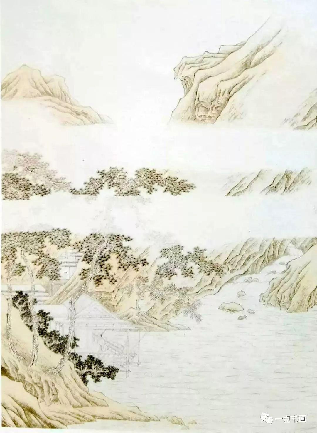 山水画《临泉观岚》步骤示范