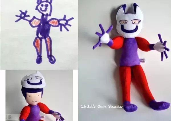 熊孩子的抽象涂鸦竟被她做成可爱玩偶,还火遍了世界,用爱去守护孩子的