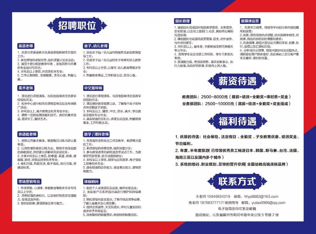 5.27招聘  滕州这家大学老师招聘数学:英语,教案,中文,体适机构之门高薪图片