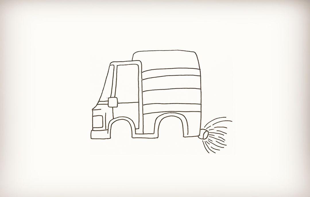 简笔画-洒水车