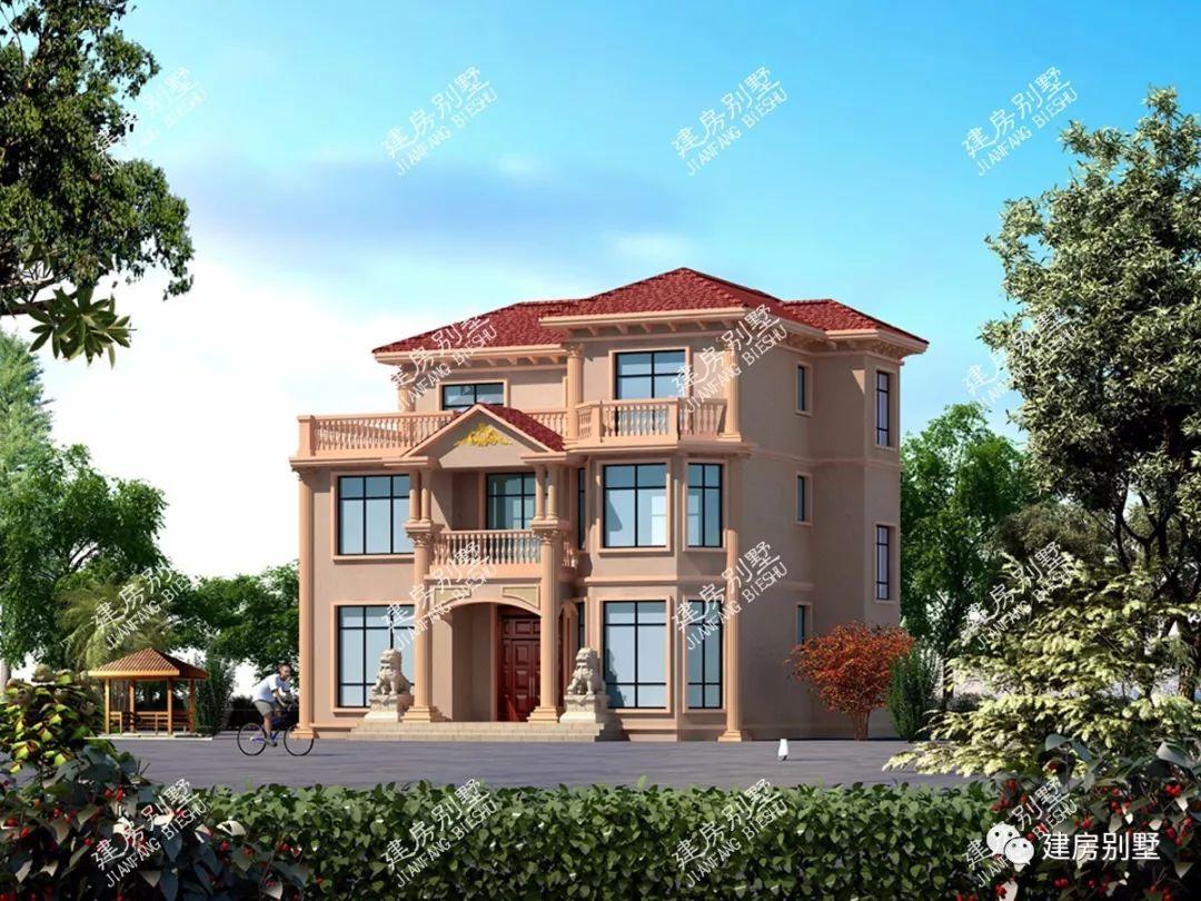 3款面宽12米的三层农村别墅,第二栋毛坯造价25万