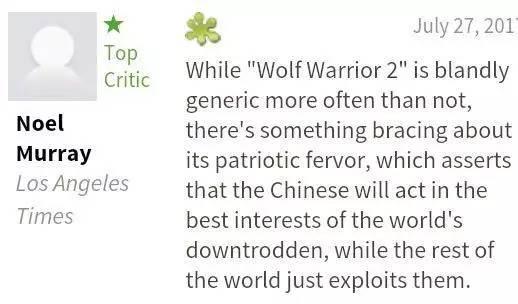《战狼2》中美同时放映,看看老外是怎么评价的