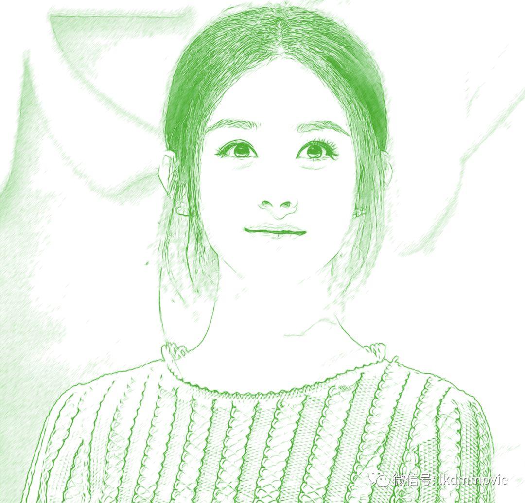 下面五位女星的铅笔画,林心如仅排第2,第一名美的让人