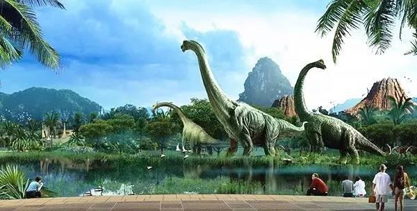 龙谷湾恐龙公园置身于风景优美的花山自然风貌地区,群山环绕,绿波