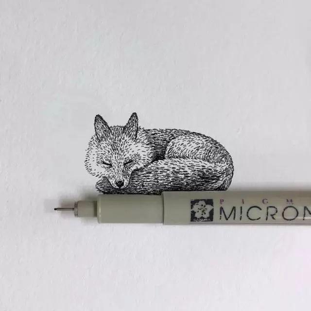 这个针管笔手绘也太皮了吧!