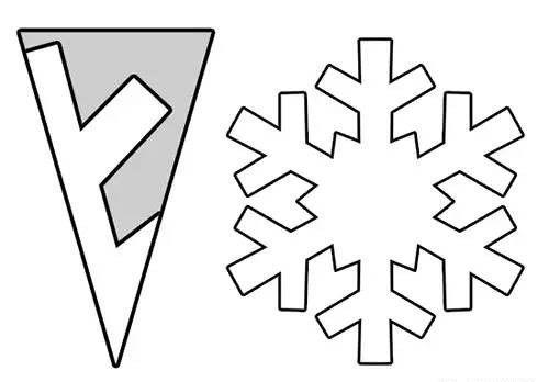 画出不同的花样,就能剪出不同的效果的雪花图案,是不是很神奇