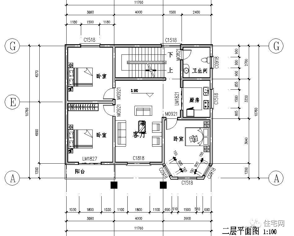 乡村别墅神台设计图