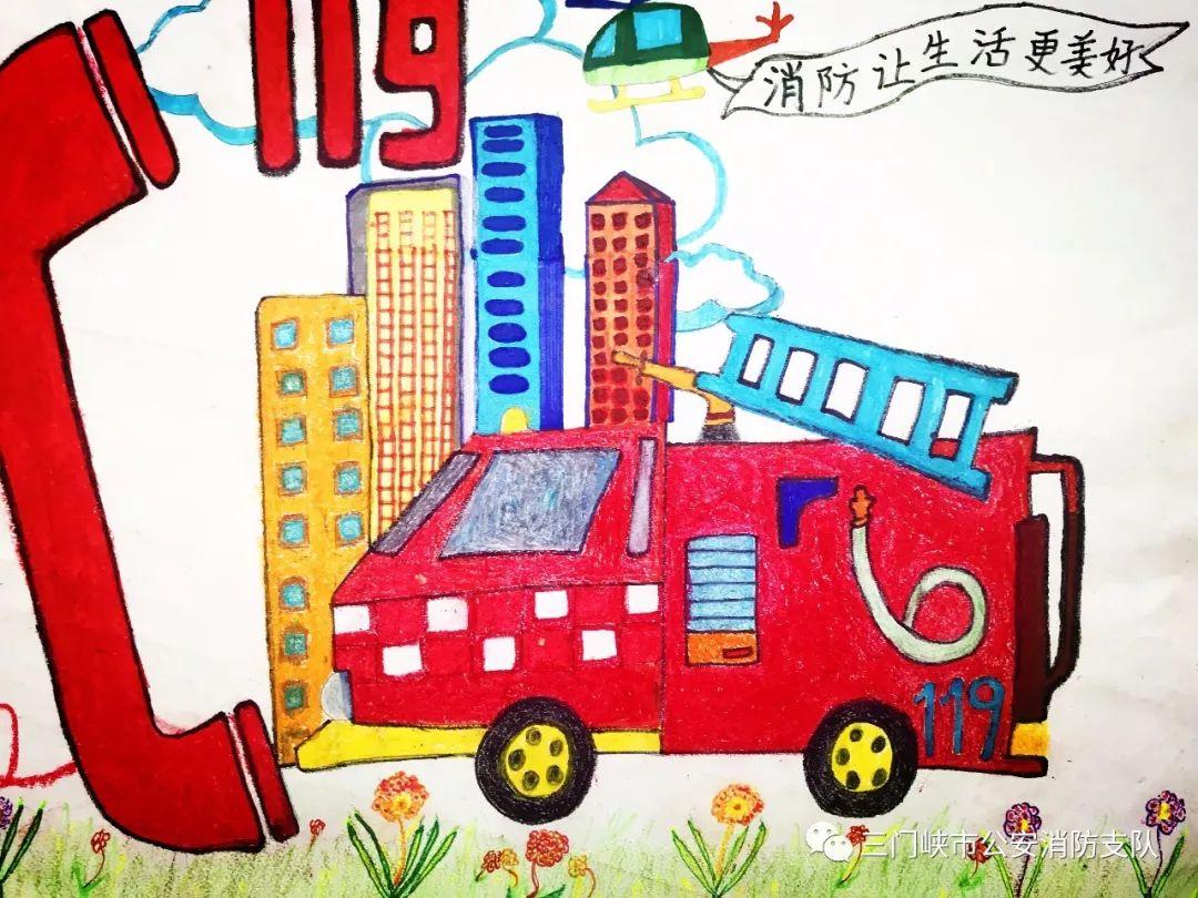 【童心绘消防,安全伴成长】儿童消防绘画作品展示