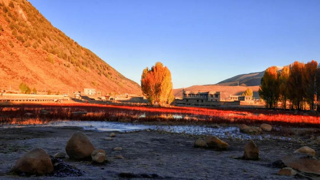阳光下,五颜六色的色块亮丽张扬地组合在一起   水天同彩地缠绵出一