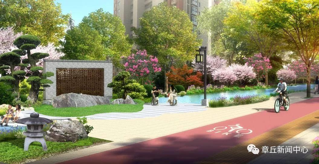 v景观提升后的双山景观长啥样?绿化带、图集河中小学建筑设计大街pdf图片