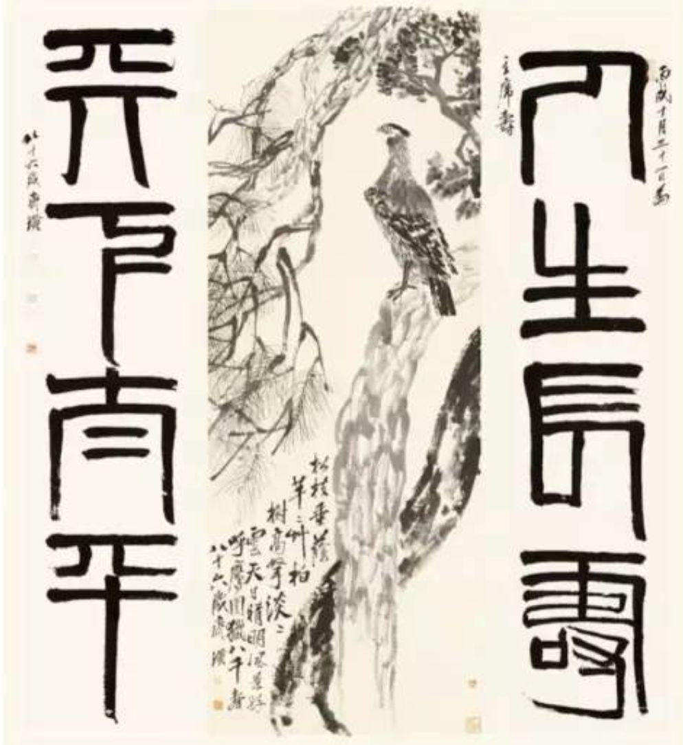 他曾经分别送了毛泽东和蒋介石一幅画,画的都是苍鹰,其寓意也十分简单