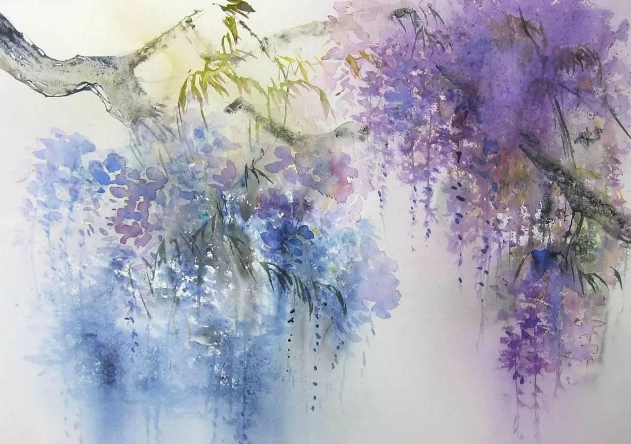 水彩画中透出的中国水墨意境