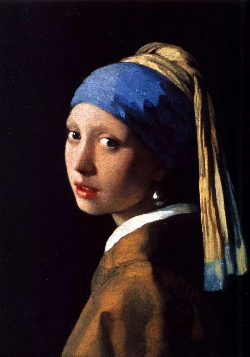 戴珍珠耳环的少女约翰内斯维米尔1665年